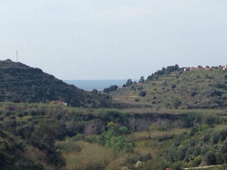 Paesaggi siciliani in una giornata ricca di colori. Partinico.