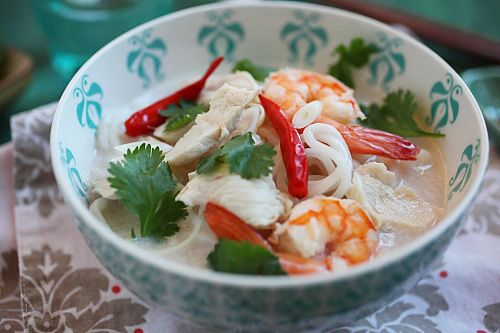 Coconut Lime Noodle Soup | Easy Asian Recipes at RasaMalaysia.com