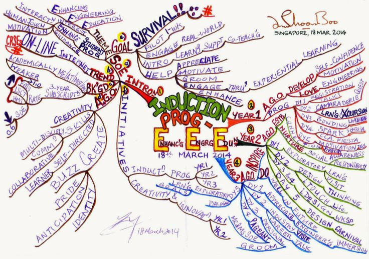 MIND MAP of an EXCELLENT INDUCTION PROGRAMME