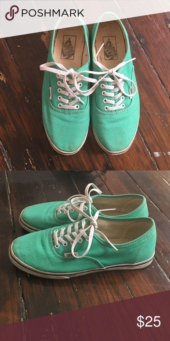 Teal van low pros Like new teal vans Vans Shoes Sneakers