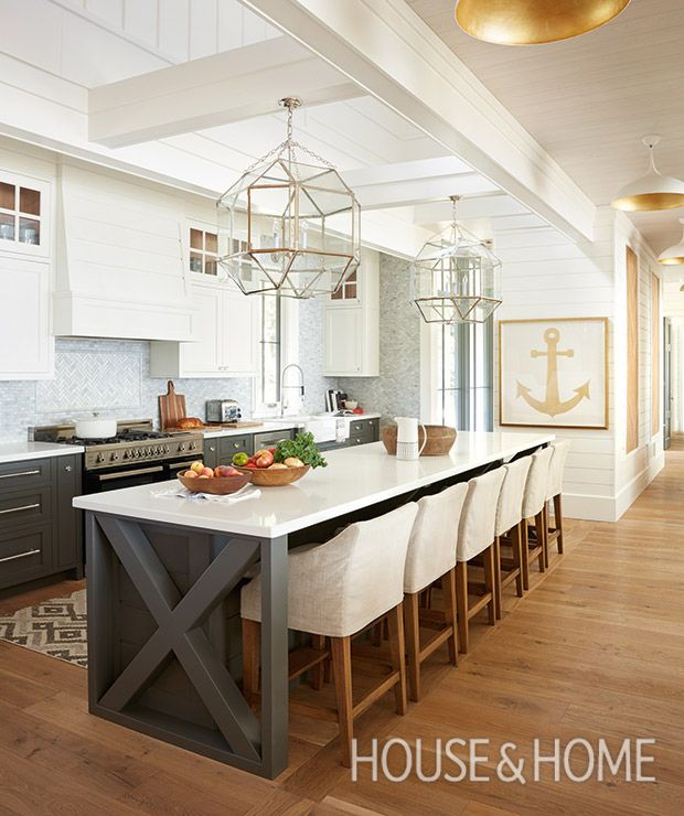 Get inspiration for your next kitchen renovation with these standout kitchen design ideas, from modern kitchens to country kitchens and more. | Photographer: Virginia Macdonald | Designer: Cory DeFrancisco, Muskoka Living Interiors