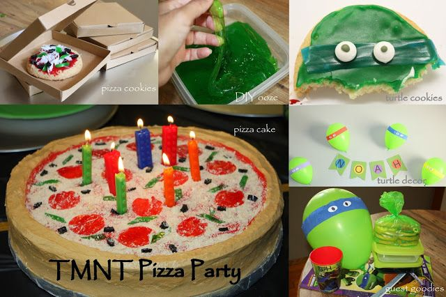 ...Pieces of Me...: Genius mom makes awesome TMNT party, will be using some of her ideas