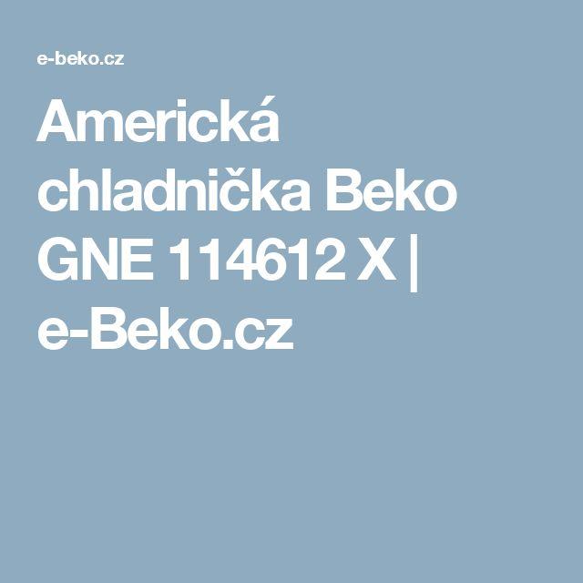 Americká chladnička Beko GNE 114612 X   e-Beko.cz