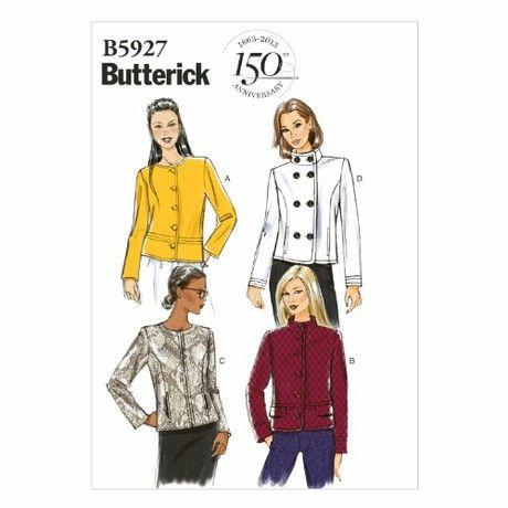 Butterick Patterns B5927 Size A5 6 - 8 - 10 - 12 - 14 Misses' Jacket, White