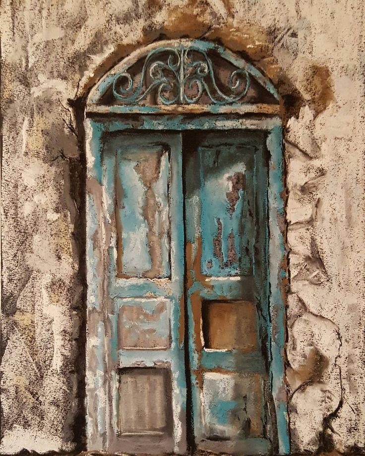 #дверь #пастель #door #pastel #pastelpainting #art #artwork #drawing #instaart #rembrandt #rembrandtpastel #rembrandtpastels #pastelart