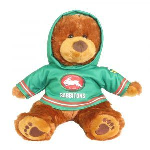 Rabbitohs Plush Toys Supporter t-shirts with hood printed with team colours and logos