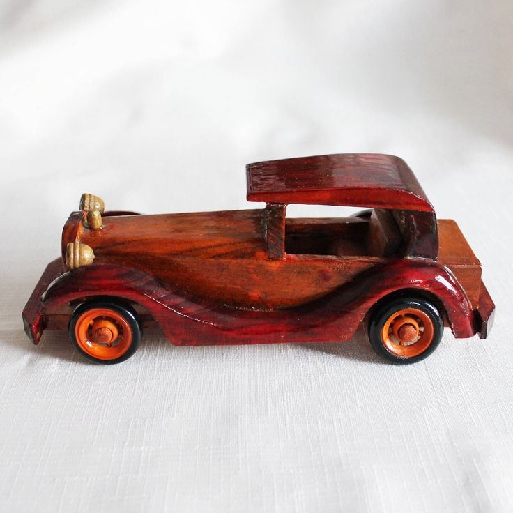 Vintage hand crafted wooden car figurine Vilentine Easter gift for him Ford automobile miniature car Gift for Boy toy car Boy room decor by VERAsPalm on Etsy https://www.etsy.com/uk/listing/568165726/vintage-hand-crafted-wooden-car-figurine