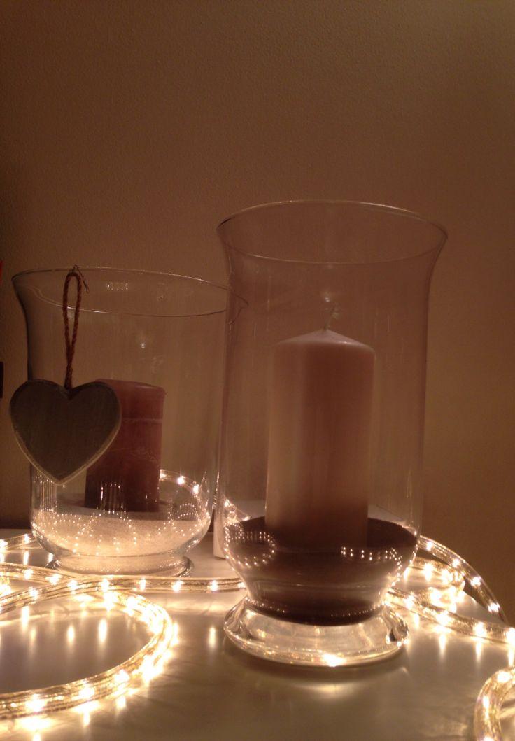 Vasi di vetro con candele