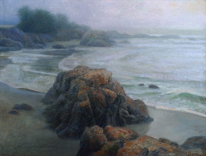 "Sea Ranch, 9""x12"" oil (available) - plein air piece by DJ Cleland-Hura"