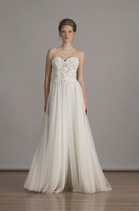 35 best images about feminine simple wedding dresses on for Pictures of simple wedding dresses