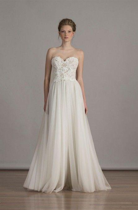 35 best images about feminine simple wedding dresses on for Pictures of simple wedding dresses