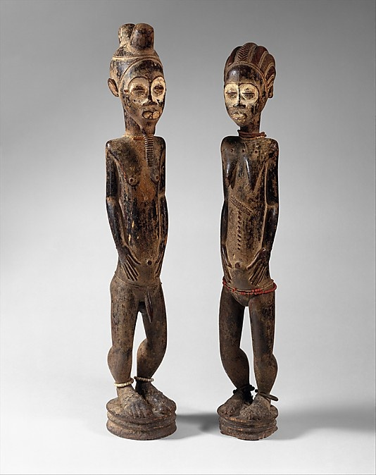 Diviner's Figure | 19th–mid-20th century | Central Côte d'Ivoire, Baule peoples | Wood, pigment, beads, iron