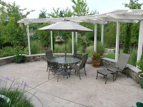 45 best patio designs images on pinterest | patio ideas, stamped ... - Concrete Patio Design