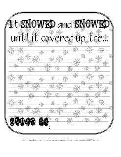 *Bunting, Books, and Bright Ideas*: Dream Snow Prediction Page Freebie!
