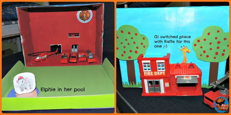 DIY shoebox fire station (City of Friends)
