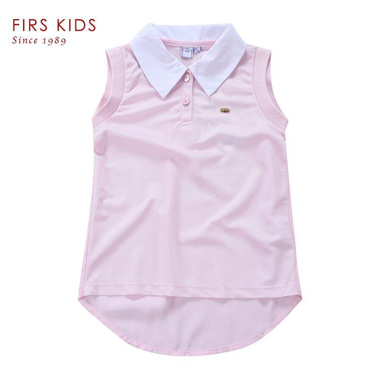 FIRS KIDS Brand New Children's t shirt Kid's t-shirts For Girls Clothes t shirt tops for girls active sleeveless girls t shirt