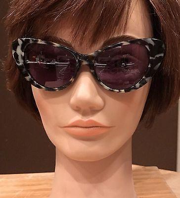 Fossil Ladies Sunglasses + Case Grey Tortoise Cat Eye Frame Designer Marlene  | eBay