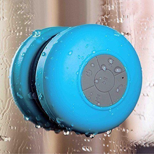 This Speaker lets you enjoy your favorite music in high-quality sound in the shower, pool, car, or just about anywhere else! It has a Long lasting Battery life (6 hours!!!) IPx4 rated waterproof- mean