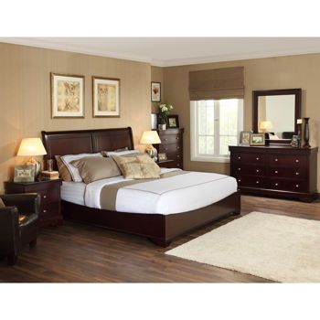 Caprice 6 piece Queen Bedroom Set 2450 Bed 2 nightstands