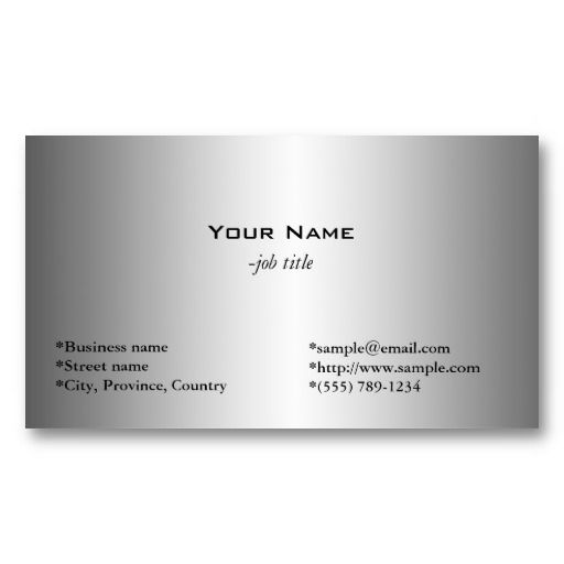 20 best business cards for pastors images on pinterest business plain simple shining metal like business card colourmoves