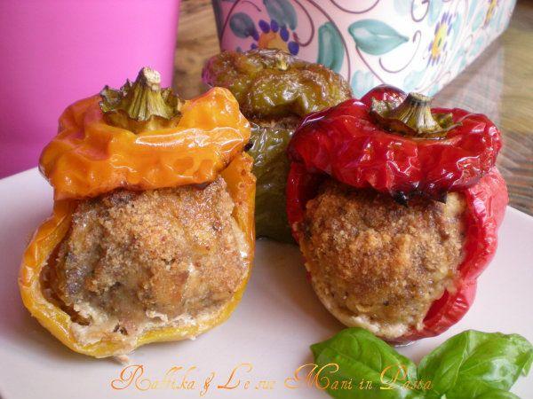 Peperoni ripieni di carne,ricetta al forno