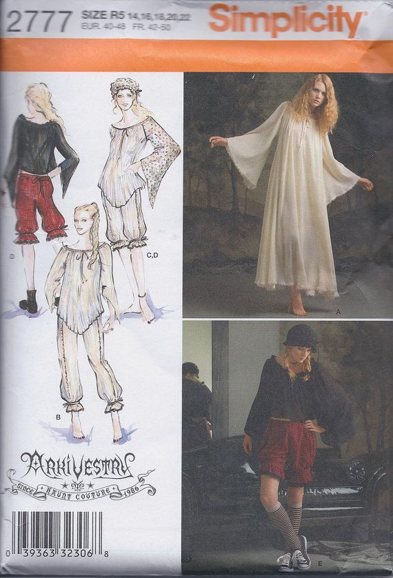 Simplicity+2777+Misses+Victorian+Steampunk+Goth+by+ReduxPatterns,+$6.99