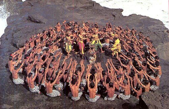traditional dance from Bali Indonesia (Tari Kecak)