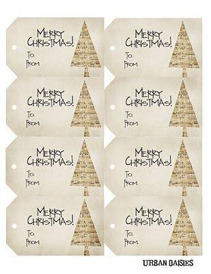 Printable gift tags ~ free download