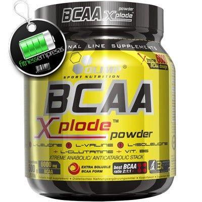 Olimp BCAA Xplode 500 g ¡La única fórmula BCAA para hacer el hombre más fuerte del mundo! Se ha demostrado en numerosos estudios que los BCAA's mejoran la recuperación entre entrenamientos, disminuyen el dolor después del ejercicio, aumemntan la proporción de grasa quemada, así como conservan el tejido muscular vital.