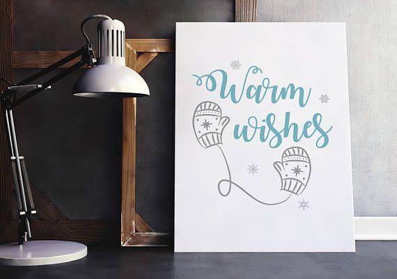 Christmas printable decor, warm wishes christmas sign, christmas quotes, holiday season quotes, christmas wishes, printable wall art, xmas