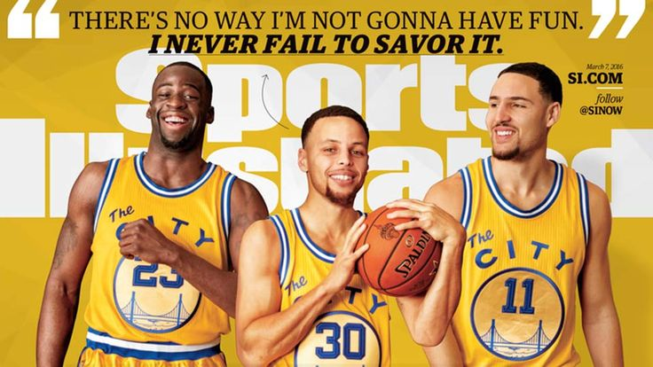 Golden State Warriors | Draymond Green, Stephen Curry, Klay Thompson | 2016 Sports Illustrated Cover