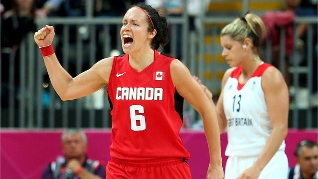 Canada defeat Team GB in the women's Basketball#