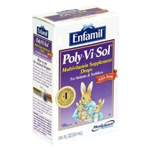 Enfamil Poly-Vi-Sol Multivitamin Supplement Drops with Iron for Infants and Toddlers, 1.67-Ounce Bottles (Pack of 2) by Enfamil. $21.76. Provides supplemental iron, for psychomotor and mental development in infants and children. Doesn't contain any artificial sweeteners. Is sugar, lactose and gluten-free. An excellent source of essential vitamins. There are times when your child's diet may not be giving him everything he needs. Enfamil Poly-Vi-Sol with Iron is the ...