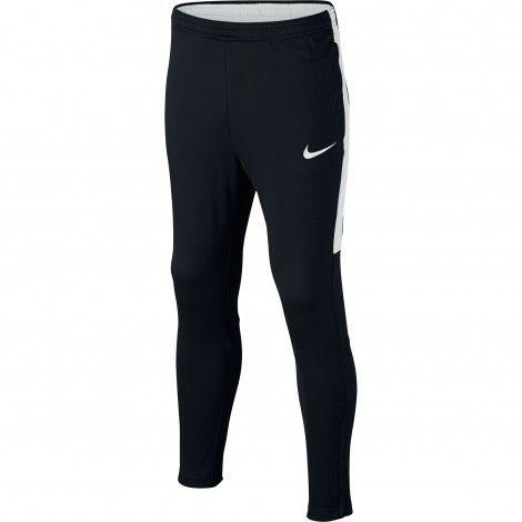 Nike Dry Academy trainingsbroek junior black white #Nike #trainingsbroek #junior