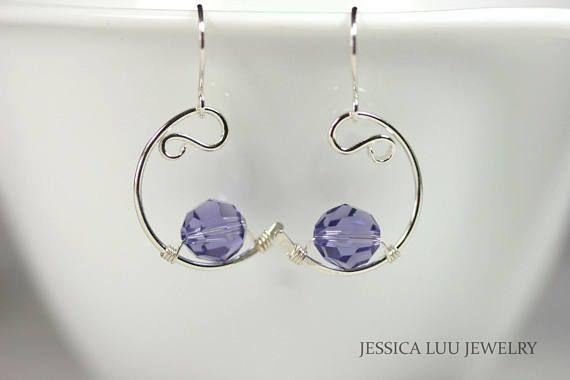 Tanzanite collar alambre envuelto joyería plata hecho a mano