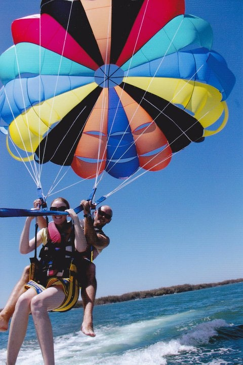 Parasailing can be scary if you're scared of heights