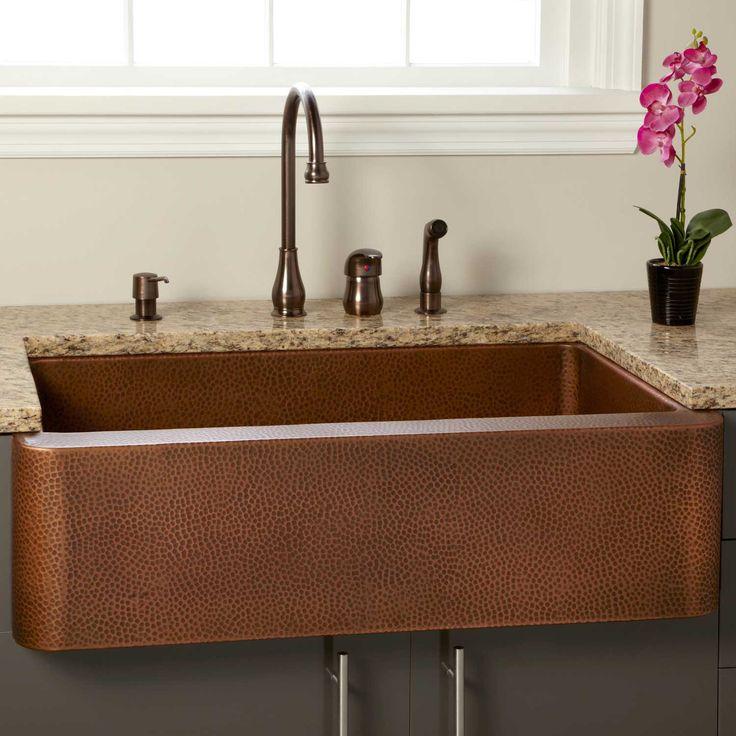"30"" Kembla Copper Farmhouse Sink - Kitchen Sinks - Kitchen"