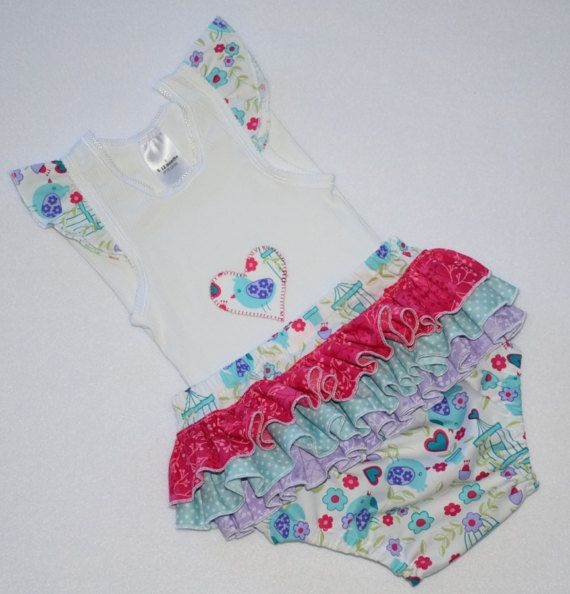 Ruffle Nappy Cover Ruffle Diaper Cover Baby Ruffle Bloomers