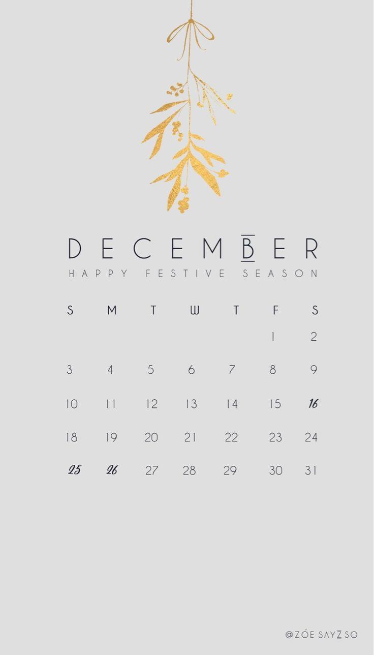 December calendar #minimalist