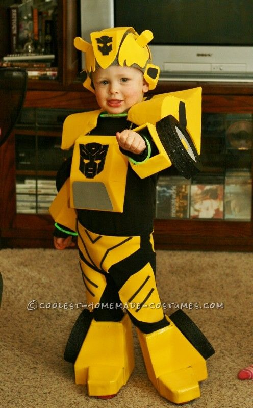 cool bumblebee autobot homemade costume for toddlers - Child Halloween Costumes Homemade