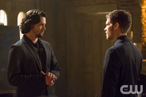 """The Originals -- """"Moon Over Bourbon Street"""" -- Image Number: OR117a_0020.jpg -- Pictured (L-R): Nathan Parsons as Jackson and Joseph Morgan as Klaus -- Photo: Bob Mahoney/The CW -- © 2014 The CW Network, LLC. All rights reserved."""