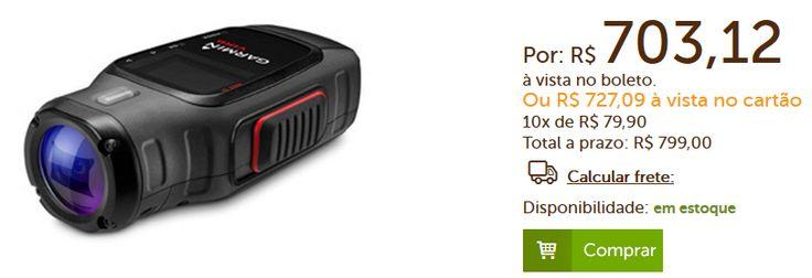 Câmera de ação Virb Garmin 16MP Full HD Visor de 14'' Resistente à água Estabilizador de Imagem << R$ 70312 >>