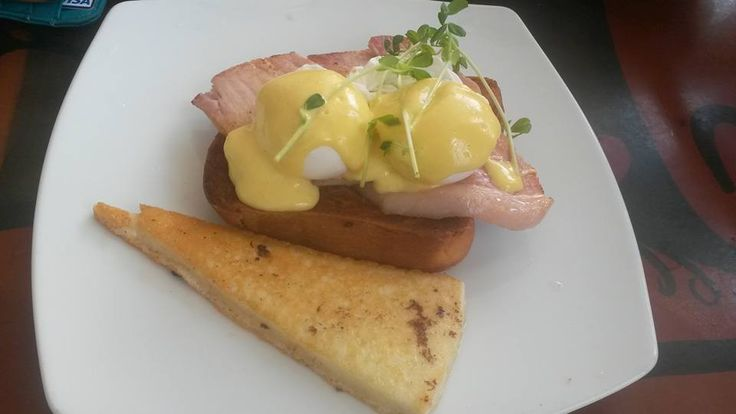 Beautiful Eggs Benedict at the BoatShed Coffee House  56 Marina Blvd, Larrakeyah NT 0820