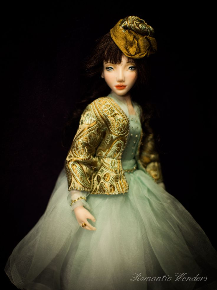 Dahlia. Handmade OOAK doll. Made to order