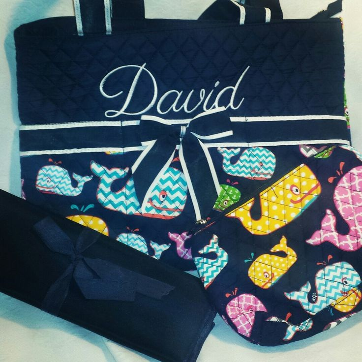 Perfect whale diaper bag for boy or girl!