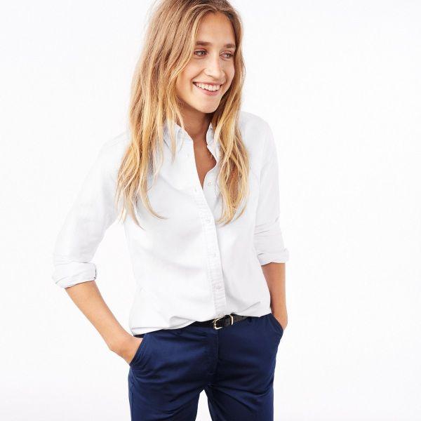 GANT Diamond G - The Perfect Oxford Skjorta White för Dam | Officiell Sida