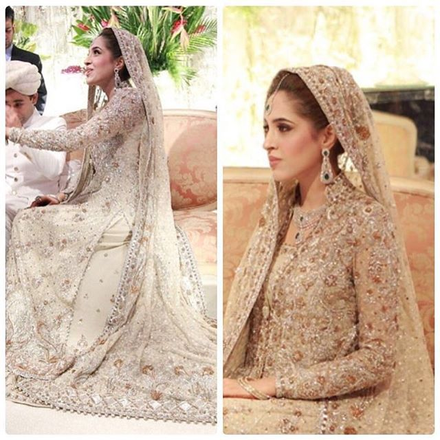 Anushey Hasham epitomises grace on her wedding in this Ivory French net bridal.  2012  #buntokazmi #buntobridals #realbrides
