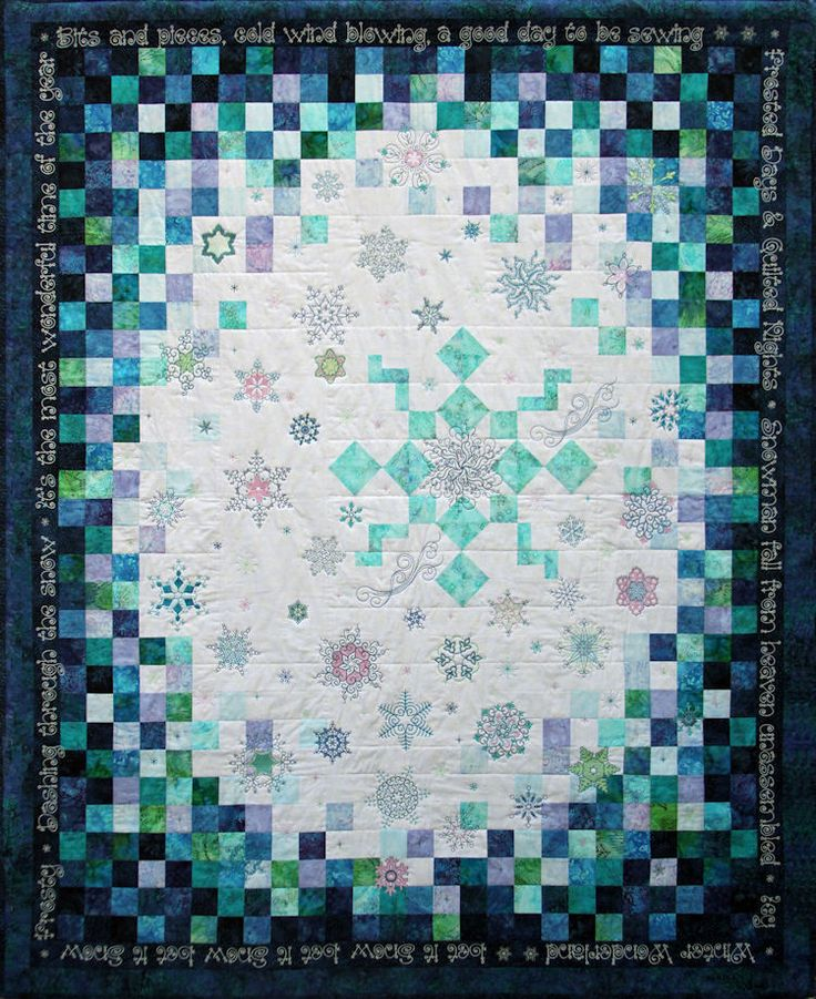 Winter flurries quilt embroidery designs by carol