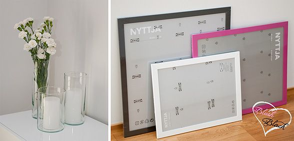 Wedding table decorations and PhotoBooth frames | Blush loves Black blog on haat.fi
