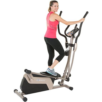 The Exerpeutic 5000 Magnetic Elliptical Trainer comes with MyCloudFitness App keeps you connected while you're finding a full-body exercise.It also has double inspiration drive method uses magnetic tension resistance to provide 24 intensity levels, while the Bluetooth IOS-comparable Mobile App tracking feature, you can connect an electronic device and watch movies, check email, or listen to music while exercising.This workout machine  has a fitness plan for virtually every body and budget.